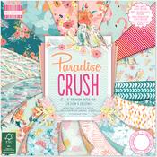 "Paradise Crush, 16 Designs/3 Each - First Edition Premium Paper Pad 8""X8"" 48/Pkg"