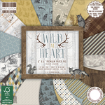 "Wild At Heart, 16 Designs/4 Each - First Edition Premium Paper Pad 6""X6"" 64/Pkg"