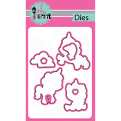Magical Unicorns, 7/Pkg - Pink And Main Dies