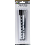 Black & White Designs - Create 365 Happy Planner Ink Pens W/Black Ink 4/Pkg