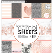 "Rose Gold - Mambi Single-Sided Paper Pad 12""X12"" 48/Pkg"