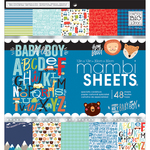 "Baby Boy Dreams - Mambi Single-Sided Paper Pad 12""X12"" 48/Pkg"