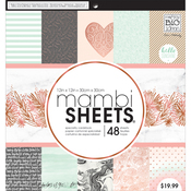 "Rose Marble - Mambi Single-Sided Paper Pad 12""X12"" 48/Pkg"