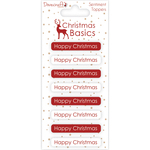 Happy Christmas - Dovecraft Christmas Basics Adhesive Toppers