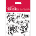 "Contemporary Sentiments - Papermania Create Christmas Clear Stamps 4""X4"""