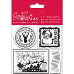 """Postage Marks - Papermania Create Christmas Clear Stamps 4""""X4"""""""