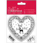 """Filigree Scene - Papermania Create Christmas Clear Stamps 4""""X4"""""""