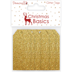 Glitter Gold - Dovecraft Christmas Basics Tags