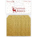 Glitter Gold - Dovecraft Christmas Basics Tags