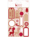 Glitter - Dovecraft Christmas Basics A5 Stickers
