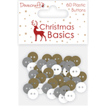 Dovecraft Christmas Basics Plastic Buttons
