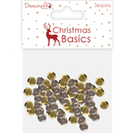Gold & Silver - Dovecraft Christmas Basics Sequins