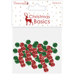 Red & Green - Dovecraft Christmas Basics Sequins