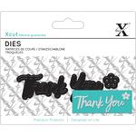 Thank You Sentiment - Xcut Mini Decorative Dies 3/Pkg