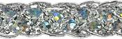 """Silver - Thea Braided Sequin Trim 1/2""""X9'"""