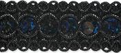 """Black - Trish Sequin Metallic Braid Trim 7/8""""X9'"""