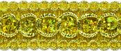 """Gold - Trish Sequin Metallic Braid Trim 7/8""""X9'"""