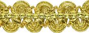 "Gold - Eva Faux Rhinestone Metallic Braid Trim 1""X9'"