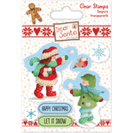 Snowball Fight - Helz Dear Santa Stamps