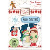 Carol Singing - Helz Dear Santa Stamps
