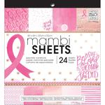"""Breast Cancer Awareness - MAMBI Single-Sided Paper Pad 8""""X8"""" 24/Pkg"""