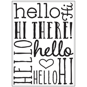 "Hello Bold - Background Embossing Folder 4.25""X5.75"""