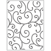 "Gem Swirl - Background Embossing Folder 4.25""X5.75"""