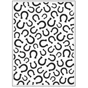 "Horseshoes - Background Embossing Folder 4.25""X5.75"""