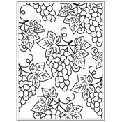 """Grapes - Background Embossing Folder 4.25""""X5.75"""""""