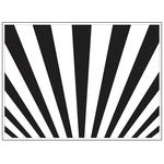 "Sunrays - Background Embossing Folder 4.25""X5.75"""