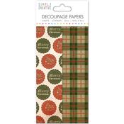 Christmas Badges - Simply Creative Decoupage Paper 18.8cm X 35cm 4/Pkg