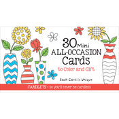 Coloring Cafe Mini All Occasion Coloring Cards 30/Pkg