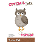 "Winter Owl, 1.3""X2.3"" - CottageCutz Die"
