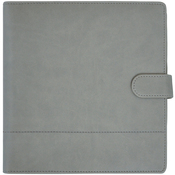Gray Leather With Stitched Accents - Journal Planner - KaiserCraft