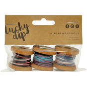Multicolour, 4m - Lucky Dip Mini Spool Hemp Cord 1.0mm