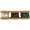 Choc-Mint, (2) 2.7m & (1) 3.5m - Lucky Dip Mini Spool Hemp Cord 1.0mm