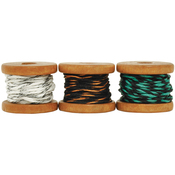 Choc-Mint, (2) 2.7m & (1) 3.5m - Lucky Dip Mini Spool Hemp Cord 1.0mm