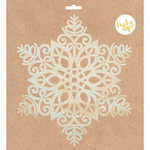 Large Star Snowflake - Lucky Dip Wood Flourish