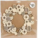 Large Bauble Wreath - Lucky Dip Wood Flourish