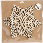 Large Snowflake - Lucky Dip Wood Flourish