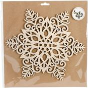 Large Snowflake - Lucky Dip Wood Flourish