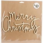 Large Merry Christmas Script Words - Lucky Dip Wood Flourish
