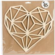 Large Geo Heart - Lucky Dip Wood Flourish