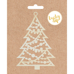 Medium Christmas Tree - Lucky Dip Wood Flourish