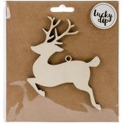 Medium Reindeer - Lucky Dip Wood Flourish