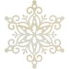 Medium Snowflake - Lucky Dip Wood Flourish
