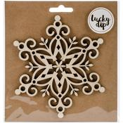 Medium Snowflake - Lucky Dip Wood Flourish