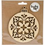 Medium Decorative Bauble - Lucky Dip Wood Flourish