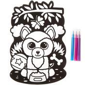 Dog - Beanie Boo Black Velvet Coloring Poster 1/Pkg