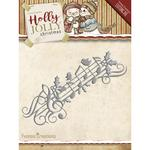 Music Border - Find It Trading Yvonne Creations Holly Jolly Die